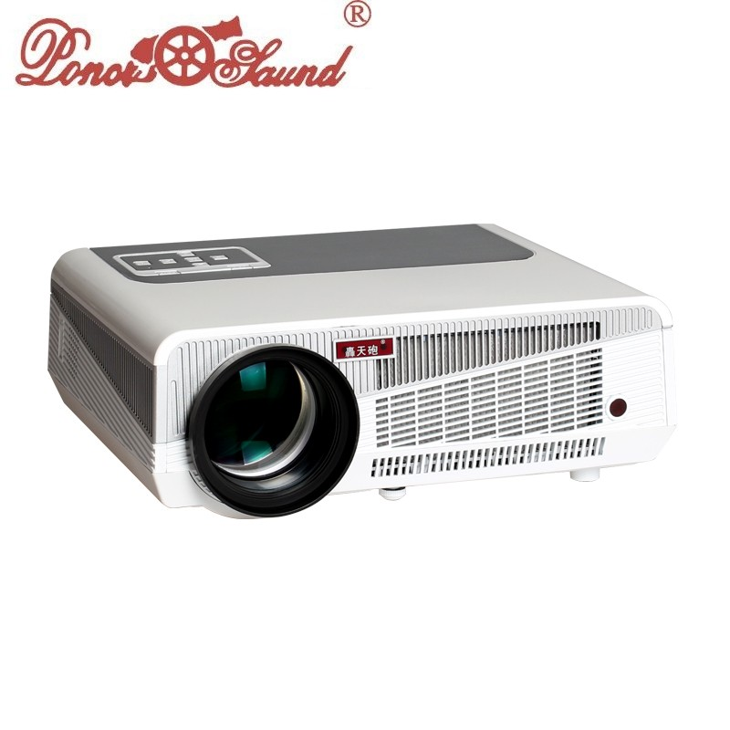 Free shipping 5500 lumens projector for home theater movie for Hd video projector