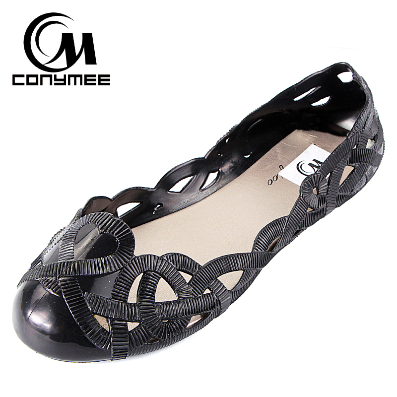 Summer 2018 Flats Shoes Women Beach Sandals Slip-On Jelly Shoes Hollow Out Ladies Girls Flat Flip Flops Black Zapatos Mujer beach shoes woman sandals summer gladiator sandals ladies t stripe flip flops casual shoes flat slip on sandalias zapatos mujer