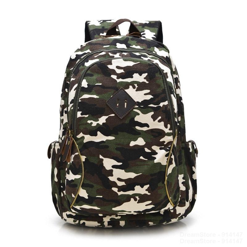 ФОТО New Fashion Youth Camouflage Backpacks School Bags for Teenagers Girls/Boys  Bag Women/Men Mochila Feminina Canvas Backpack