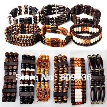 5PC Wood Beads Bracelet Friendship Bracelet Jewelry Charm Bracelet For Women Cheap Wood Jewelry Free Shipping пандора браслет с шармами