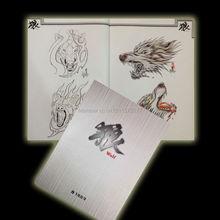 Оптовая продажа-Волк Зверь татуировки A4 этюдник Вспышка Дизайн Китай Эскиз Книга Бесплатная доставка