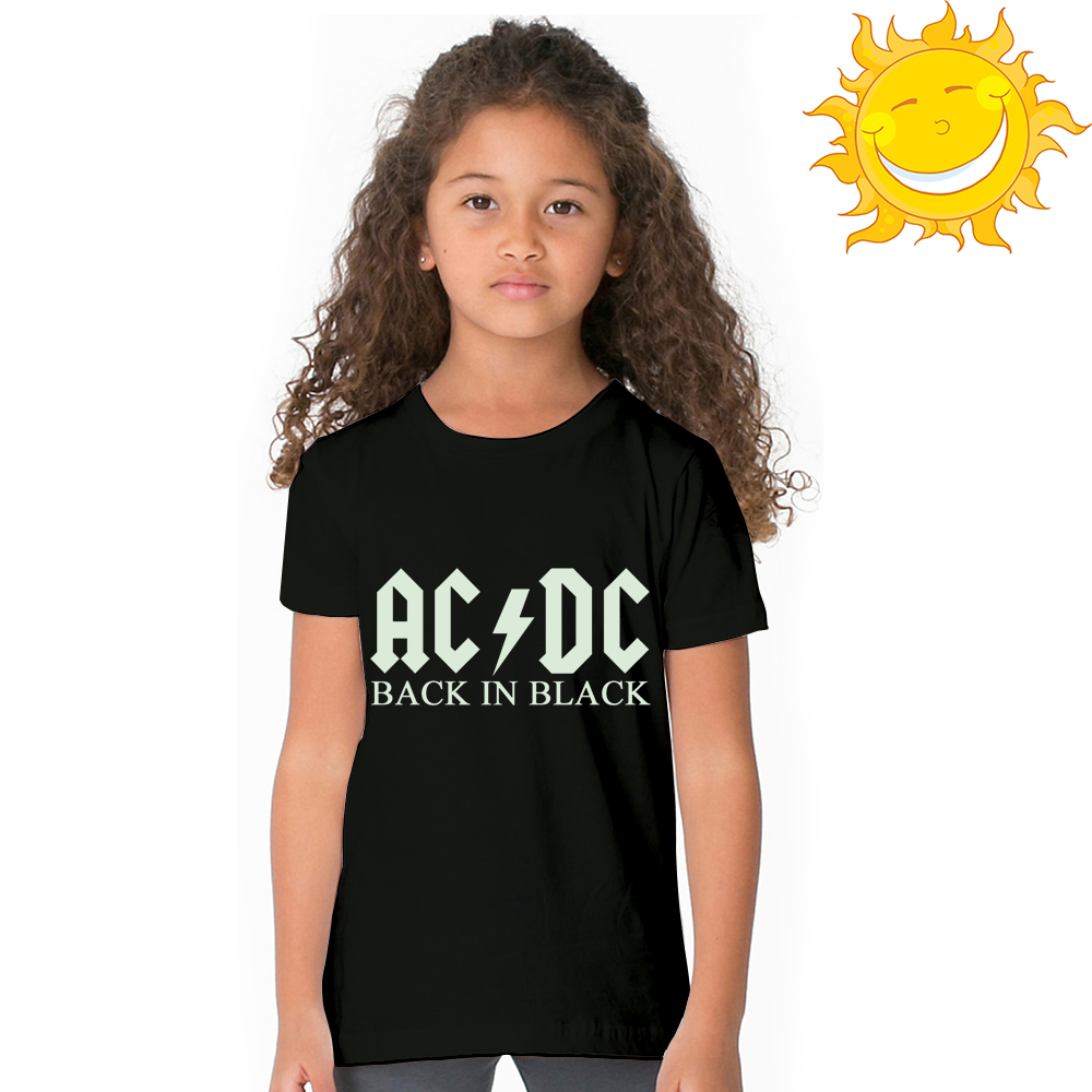 4f74107c Aliexpress.com : Buy Luminous ACDC Kids T Shirt Fluorescent AC DC Letter  Logo Print Children T shirt Glow In Dark AC/DC Graphic Boy Girl Rock Tshirt  from ...