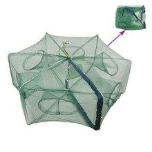 Складная портативная Автоматическая рыболовная сетка клетка для креветок приманки для крабов литая Сетка Ловушка 58*34 см наружная сетка