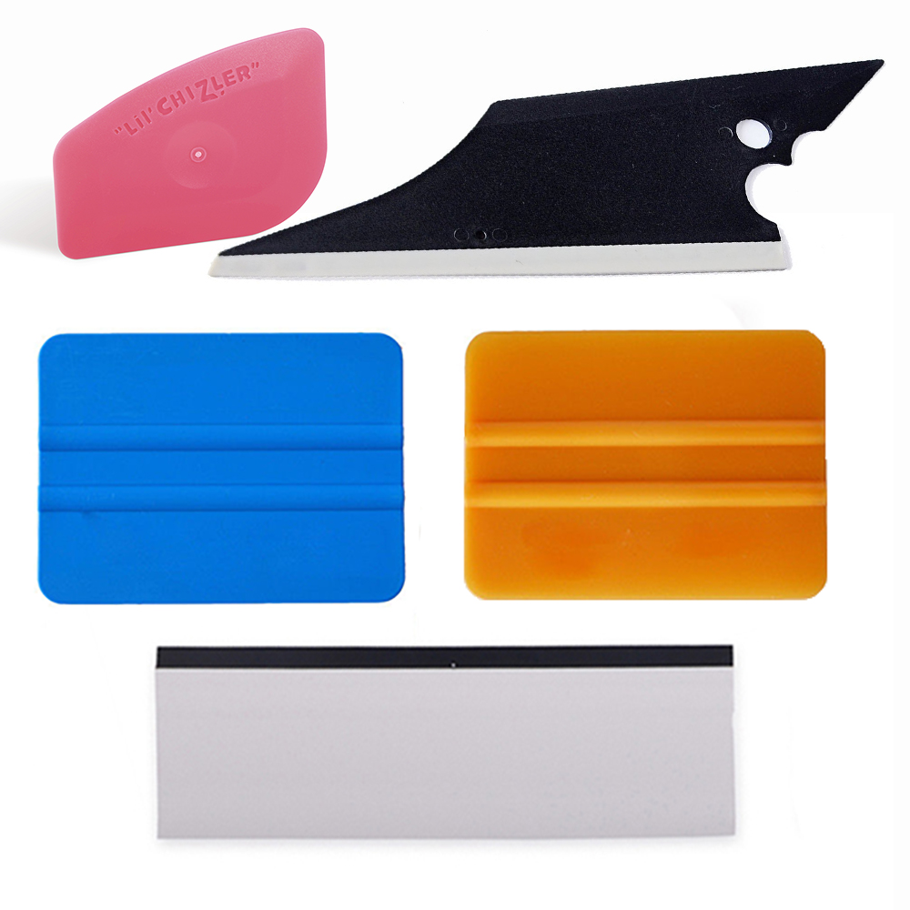 EHDIS 5ks Carbon Fiber Foil Film Car Window Tint Tools Kit Kit Squeegee Vinyl Car Wrap Auto Auto Balicí příslušenství Příslušenství pro škrabky na led