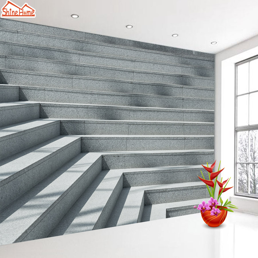 Us 12 1 45 Off Shinehome Large Custom 3d Picture Wallpaper Stairs Sunshine Brick Wallpapers For 3 D Living Room Sofa Tv Background Wall Paper In