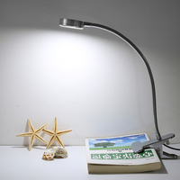 Modern LED Table Lamps Creative Reading Desk Lamps Bedside Lamp Eye Protection led 6W Flexible With Clip Warm/White in one Light