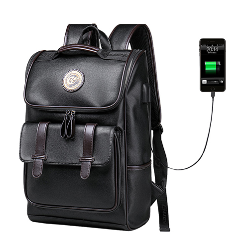 man Backpack External USB Charge Waterproof Backpack Fashion PU Leather Travel Bag Casual School Bag leather bookbagman Backpack External USB Charge Waterproof Backpack Fashion PU Leather Travel Bag Casual School Bag leather bookbag