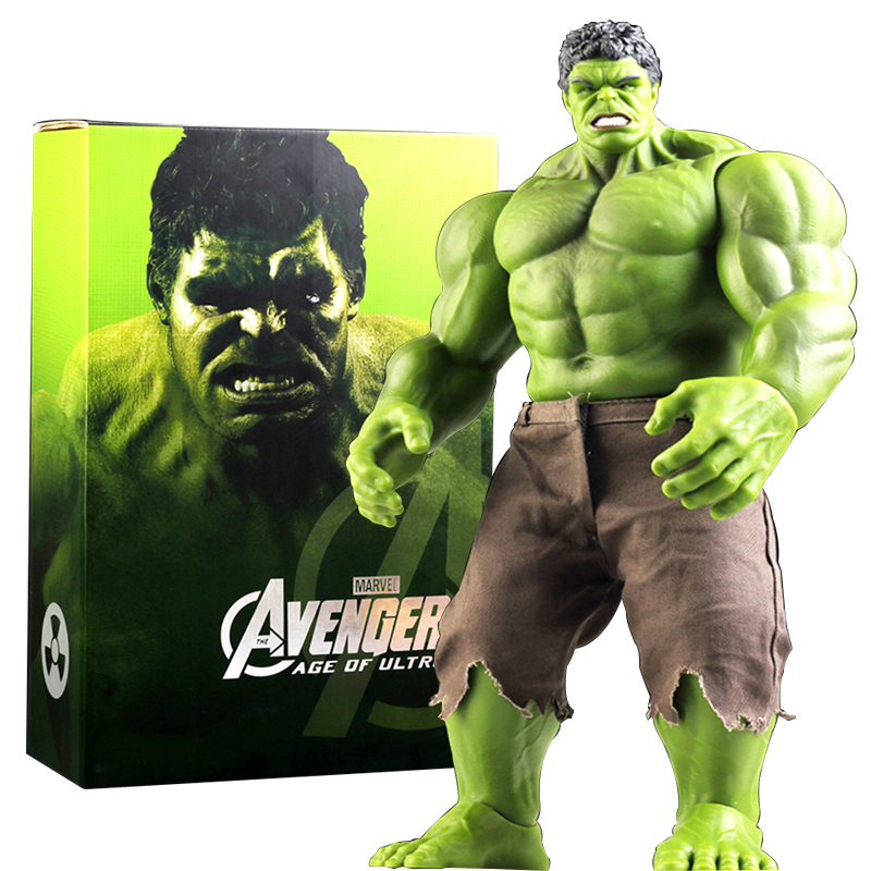 Hulk Action Figure  Avengers Incredible Hulk Iron Man Hulk Buster Age Of Ultron Hulkbuster 42CM PVC Collectible Mode Toys avengers age of ultron iron man hulk vision ultron war machine pvc action figures toys with led light 5pcs set