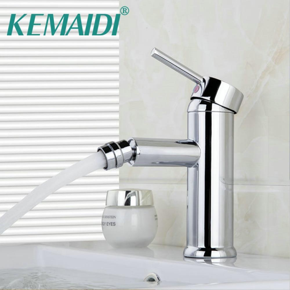 KEMAIDI Bathroom Bidet Faucet for Washing Basin Tap Chrome torneira Basin Sink Vessel Faucet Vanity Mixers