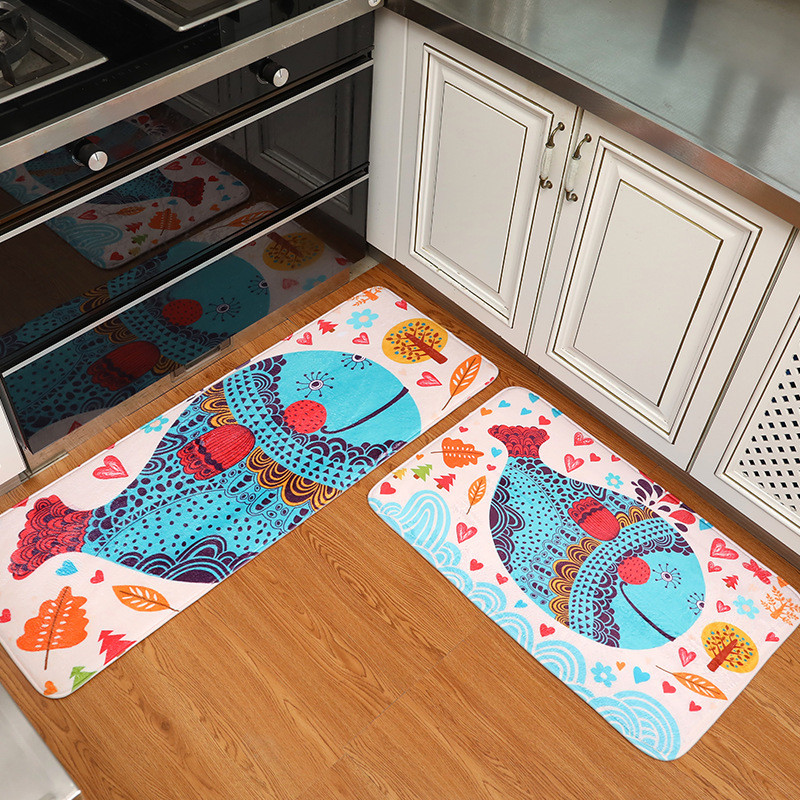 Home Decor 2pcs/set Elephant Rug Carpet Fish Brid Animal
