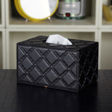 High - grade leather paper towel box PU picking napkin pumping household goods European style