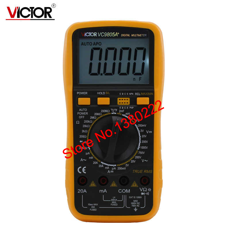 ФОТО Ammeter Multitester 2000 Counts Resistance Capacitance Inductance Temperature Victor Digital Multimeter VC9805A+
