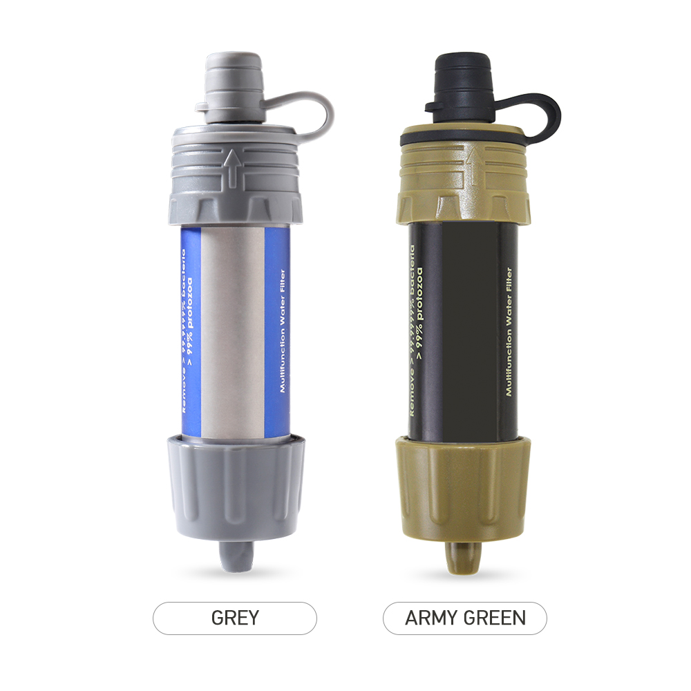 Water Filter Straw Camping Hiking Emergency Life Survival Portable Purifier