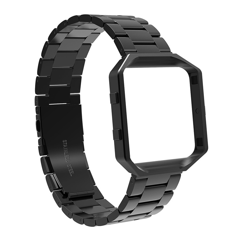 Stainless Steel Watch Band For Fitbit Blaze Smart Watch Band With Frame Button Folding Clasp Replacement Bracelet Wrist Strap цена и фото