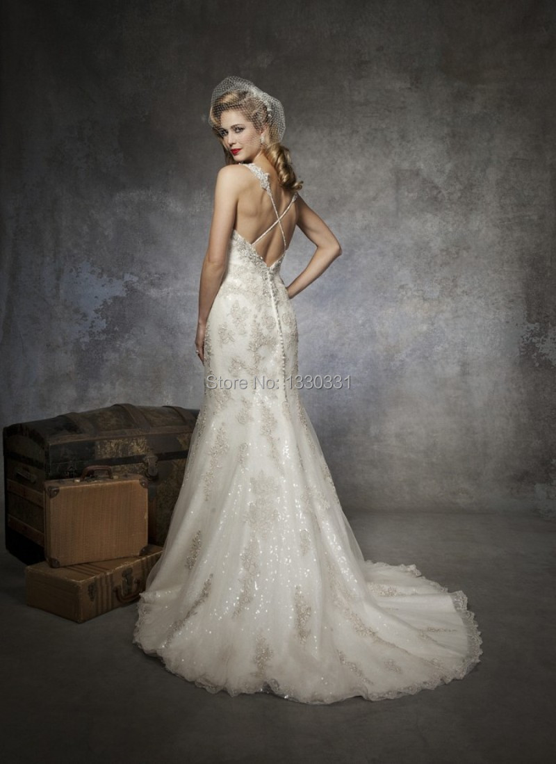 Aliexpress.com : Buy Made In China Mermaid Wedding Gowns Criss ...
