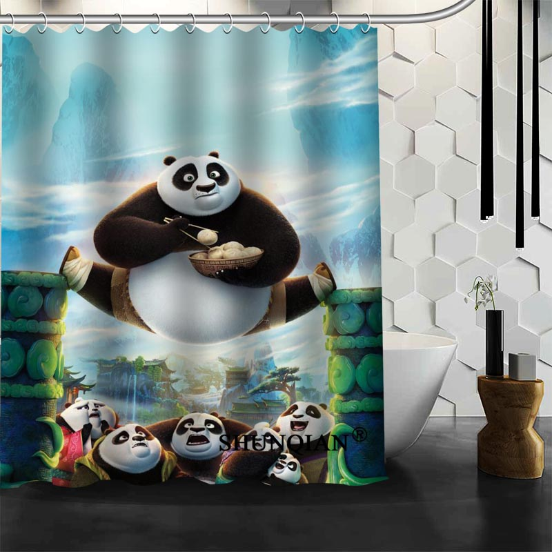 Hot Sale Bathroom Curtains Kung Fu Panda Shower Curtain Custom Waterproof  Polyester Fabric Curtain For Bathroom In Shower Curtains From Home U0026 Garden  On ...