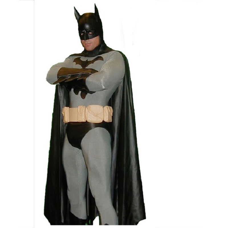 Classic Grey Batman Superhero Costume Spandex Halloween Cosplay Zentai Suit Strong Packing Movie & Tv Costumes Novelty & Special Use