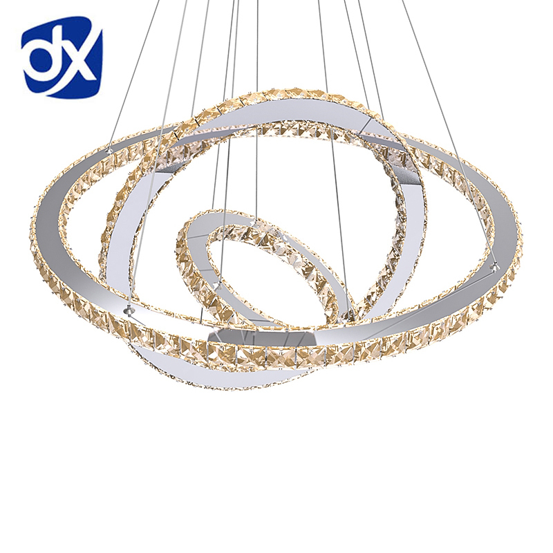 led crystal ring pendant light ring crystal light fixture suspension lumiere led living room. Black Bedroom Furniture Sets. Home Design Ideas