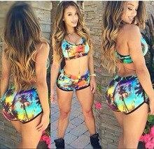 Plus Size Beach girl sports SwimwearSexy Bikini Digital Printing Swimwear Women Swimsuit Retro Vintage Bathing Suits Bikini Set