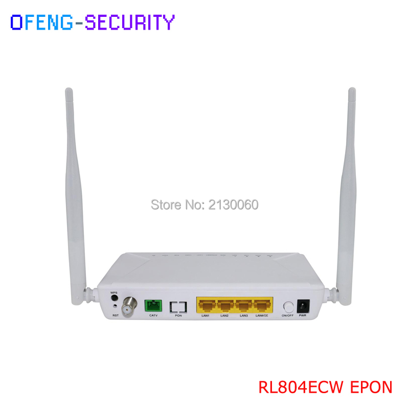 Customized RL804ECW EPON ONU 1GE+3FE+1CATV +WIFI Single fiber same as huawei epon onu 100% tested work perfect for hg8010 onu epon gpon