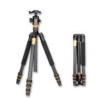 Original QZSD Q999C Professional Carbon Fiber DSLR Camera Tripod Monopod+Ball Head/Portable Photo Camera Stand/Better than Q999