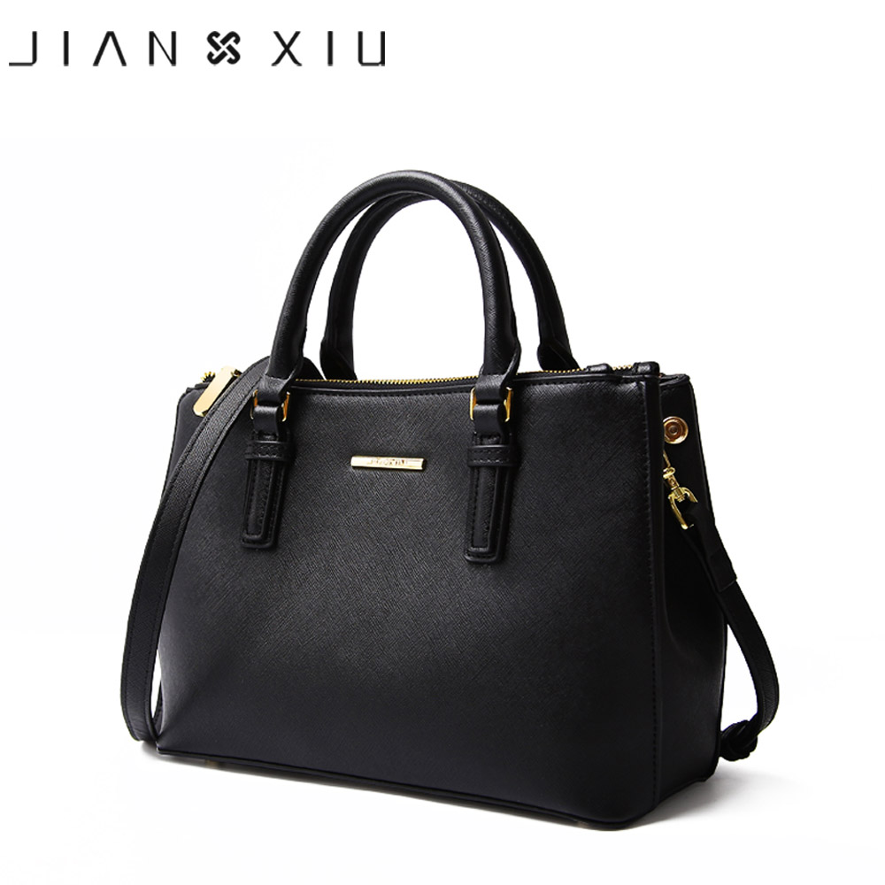 JIANXIU Brand Genuine Leather Handbag Luxury Handbags Women Bags Designer High Quality Cross Texture Tote 2017 Big Shoulder Bag