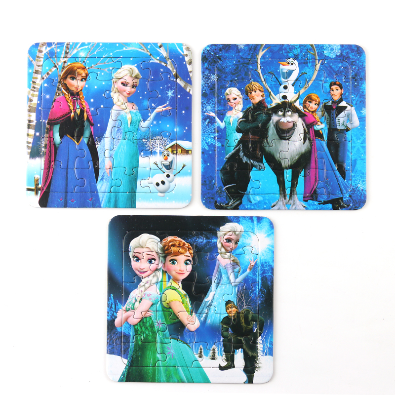 Disney Frozen Anna Elsa Puzzle Early Learning Puzzle Toy Car3 Lightning McQueen Puzzle Toys Children's Birthday Gift