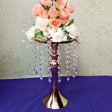 Wedding Props New S-shaped Crystal Acrylic Bead Curtain Rotating Road Lead  Flower party decoration road Bracket Vase