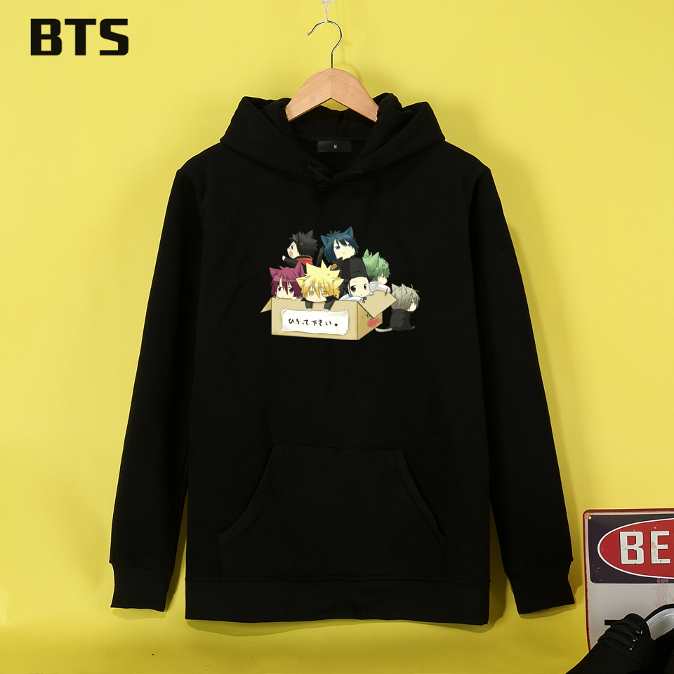 BTS Katekyo Hitman Reborn! Cute Hoodies Women Funny Cool Hipster Cute Creative Plus Size Pink Women Hoodies Sweatshirts