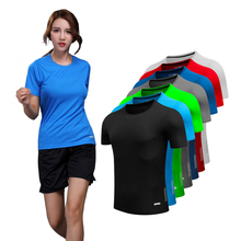Running-Shirt Compression-Tights Women Short-Sleeves Fitness-Training Yoga Quick-Dry
