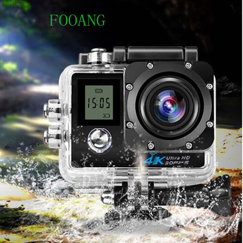 FOOANG video camera  wifi  camera waterproof 30m Wide Angle 170 degrees Double screen ultra HD 1080p action outdoor sport dv wifi sports video camera waterproof 30m 16mp 1080p 170 degree wide angle full hd bicycle cycling helmet mini dv