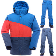 High-Q 2016 men's winter sports skiing suits male jacket +pants Snowboarding coat mans Thicken Snow waterproof/windproof