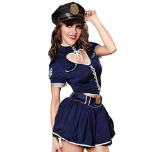 Halloween Policewomen Role Playing Cop Outfit Girls Erotic Performance Cosplay Uniforms Sexy Women Police Dress Costume