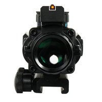 4 X 32 Hunting Compact Rifle Scope Red Blue Green Dot Fiber Sight For 20MM Rail