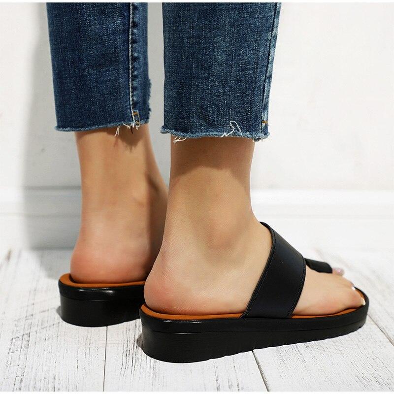 HTB14wfJaEuF3KVjSZK9q6zVtXXa2 MCCKLE Women Comfy Plain Shoes Flat Platform Ladies Casual Big Toe Foot Correction Sandals Orthopedic Bunion Corrector Flip Flop