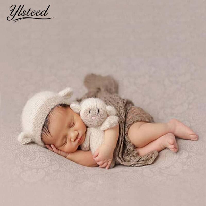 Neugeborene Props Nette Lamm Hat Puppe Set Infant Schieß Häkeln ...