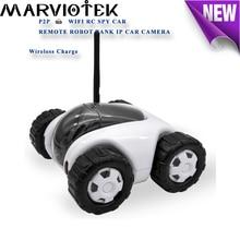 960P IP Camera wi-fi tank robot camera ip surveillance 360 degree wifi cctv camera wireless charge battery phone remote control