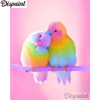 Dispaint Full Square/Round Drill 5D DIY Diamond Painting Colored bird Embroidery Cross Stitch 3D Home Decor A10314 dispaint full square round drill 5d diy diamond painting mandala scenery 3d embroidery cross stitch 5d home decor a10820