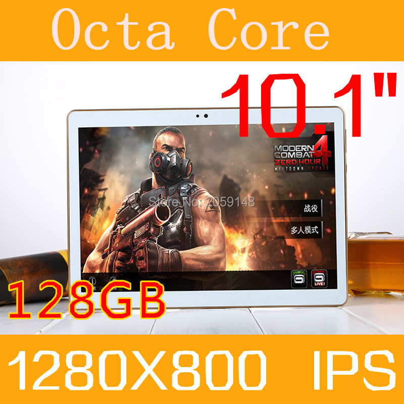 2017 New 10 inch Octa Core 3G Tablet 4GB RAM 128GB ROM 1280 800 Dual Cameras