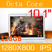 2017 New 10 inch Octa Core 3G Tablet 4GB RAM 128GB ROM 1280*800 Dual Cameras Android 6.0 Tablet 10.1 inch  Free Shipping