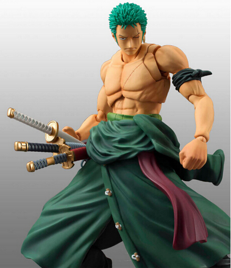 One Piece Figure Roronoa Zoro MH Action Figure 18CM Roronoa Zoro PVC Cartoon Figurine One Piece Zoroo S.H.Figuarts Toys OP16 one piece action figure roronoa zoro led light figuarts zero model toy 200mm pvc toy one piece anime zoro figurine diorama