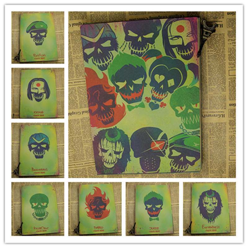 Home Decor Retro Kraft Paper Suicide Squad DC Comics Movie Game ...
