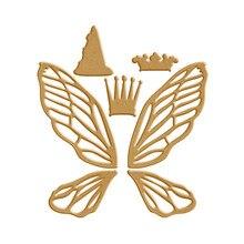 Eastshape Metal Cutting Dies Dragonfly Wings Crown Scrapbooking for Card Making DIY Embossing Cuts New Craft Animal
