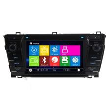 7 «автомобиль Радио dvd-плеер GPS навигация Центральный Мультимедиа Стерео для Toyota Corolla 2014 с bluetooth бесплатную карту Бесплатная доставка