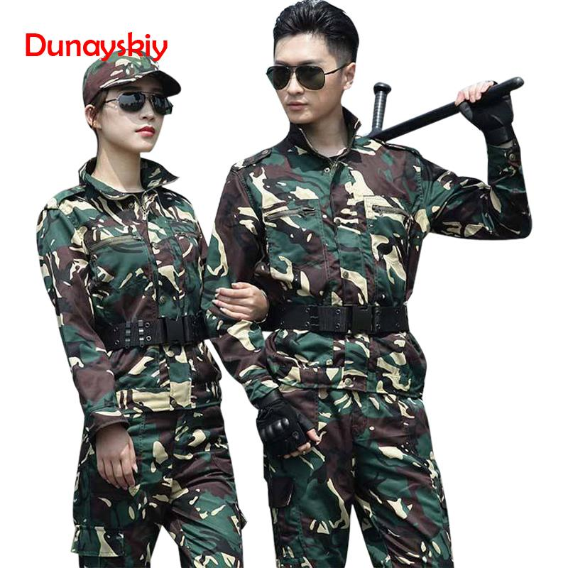 Camouflage Clothes Set Military Tactical Uniform Combat Army Special Forces Soldier Training Militar Wear Clothing Long Sleeve image