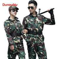 Camouflage Clothes Set Military Tactical Uniform Combat Army Special Forces Soldier Training Militar Wear Clothing Long Sleeve