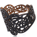 Pameng Hollow Design Whole Jewelry Wrap Charm Faux Leather Bracelet Braided Rope Wristband Bracelets For Women men S0268