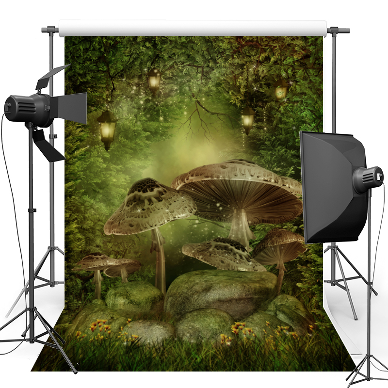 Alice in Wonderland Mushroom Vinyl Photography Background Fairy Tale New Fabric Flannel backdrop For Children Photo studio F1753 photo background 5x7ft fairy tale mushroom house photography backdrop studio props for children