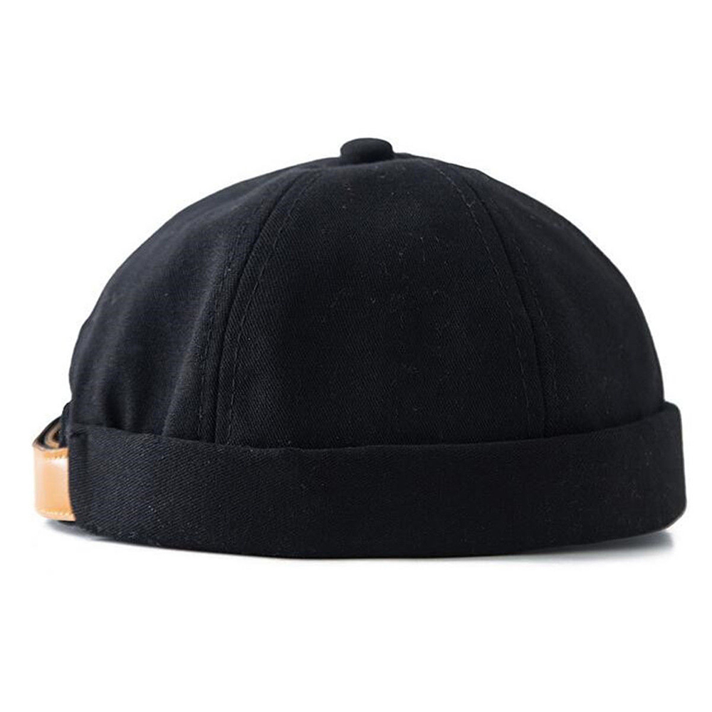 Fashion Adjustable Unisex Docker Sailor Biker Cap Casual Brimless Skull   Beanie   Hat