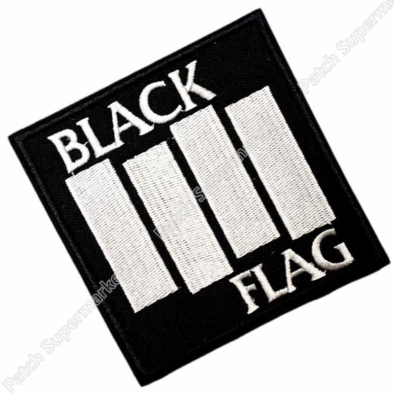 BLACK FLAG 3 5 Music Band Embroidered Emblem punk rockabilly applique sew on iron on patch